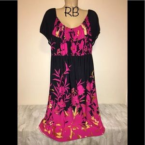 🌈 Dressbarn Floral Empire Sun Dress Plus Size 20